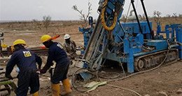 photo of exploration drilling